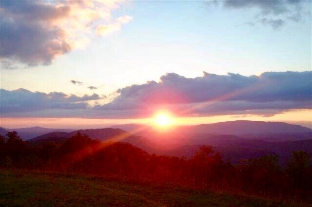 Sunset over Buck Bald